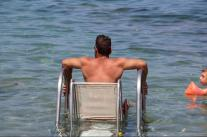 Seatrac system for people with special needs in the west beach of Ierapetra.